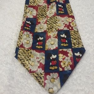 Disney Mickey Mouse Floral Tie